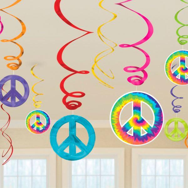 Compra Decorados Espirales Hippie 12 Y Recibelo En 24h Decoracion
