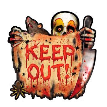 Imagen de Troquelado Keep Out payaso sangriento