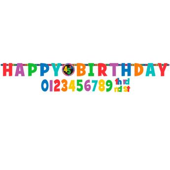 Picture of Banner Happy Birthday alegre personalizable