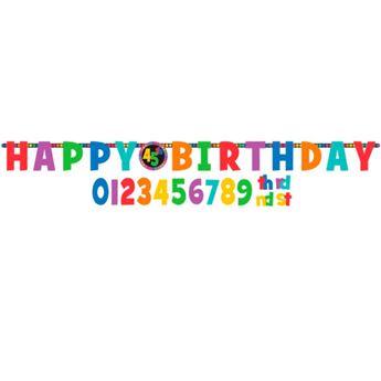 Imagens de Banner Happy Birthday alegre personalizable