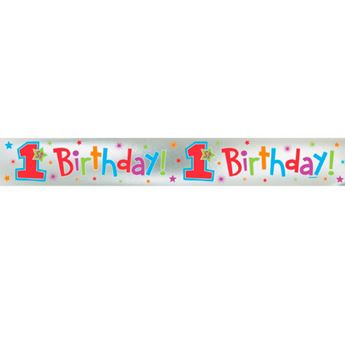 Picture of Banner 1er cumple niña colores