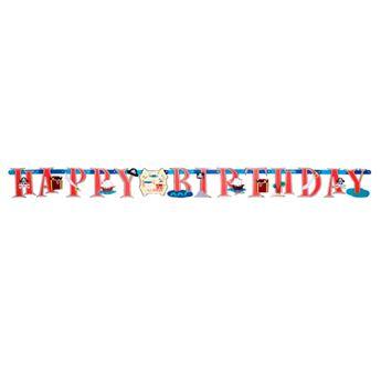 Picture of Banner Happy Birthday piratas tesoro