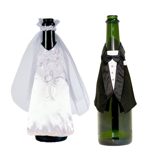 Imagens de Decoración botella novia y novio