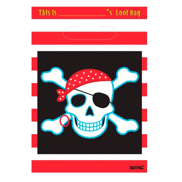 Bolsas Piratas Calavera Con Parche 8 Envío En 24h Desde 399