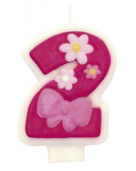 Imagen de Vela 2 rosa glamour
