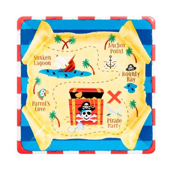 Imagen de Platos Piratas Tesoro grandes (8)