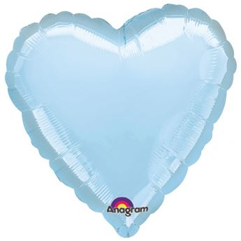 Imagens de Globos corazón azul claro jumbo (3)
