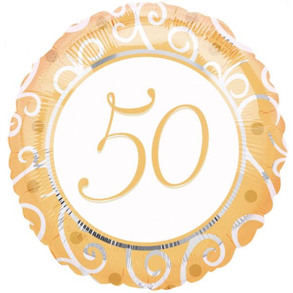Compra globo 50 a os aniversario y rec belo en 24h - Globos 50 anos ...