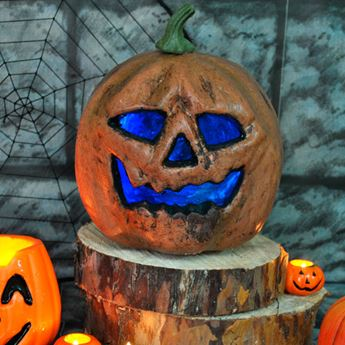 Imagen de Calabaza Halloween siniestra con luz
