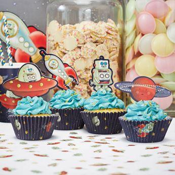 Imagen de Set cupcake espacio retro (50)