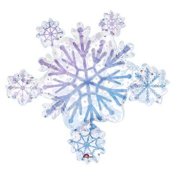 Imagen de Globo copo de nieve holográfico