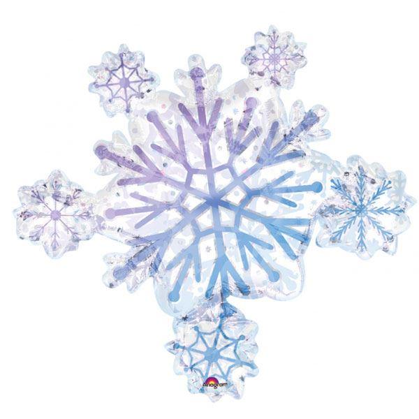 Copos De Nieve Para Decorar Fiesta Frozen.Globo Copo De Nieve Holografico
