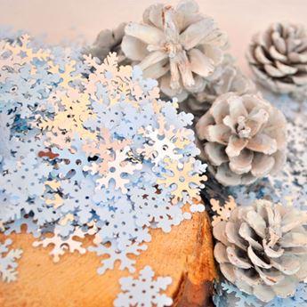 Imagen de Confeti copo de nieve blanco (70gr)