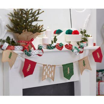 Imagen de Banderín yute Navidad