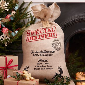 Imagen de Saco regalos Navidad yute