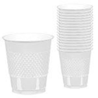 Imagen de Vasos blancos plástico (10)