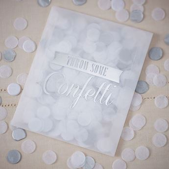 Imagen de Bolsas confeti plata (10)