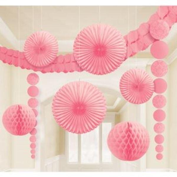 Picture of Set Decoración Colgante rosa pastel (9)