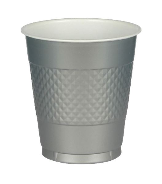 Imagen de Vasos plata plástico (10)