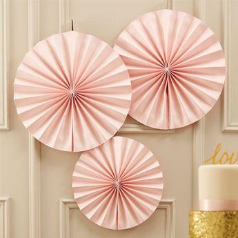 Imagen de Decorados abanico rosa pastel (3)