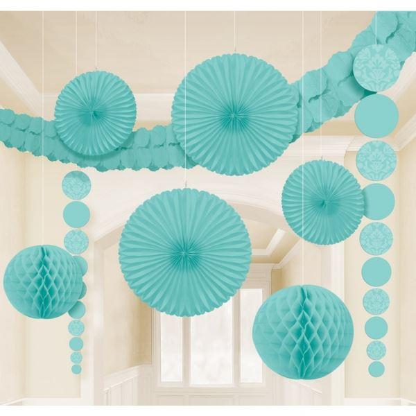 Compra set decoraci n colgante turquesa 9 y rec belo en for Decoracion en gris y turquesa