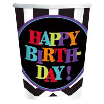 Imagen de Vasos cumpleaños chevron (8)