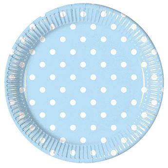 Imagen de Platos azul pastel lunares (8)