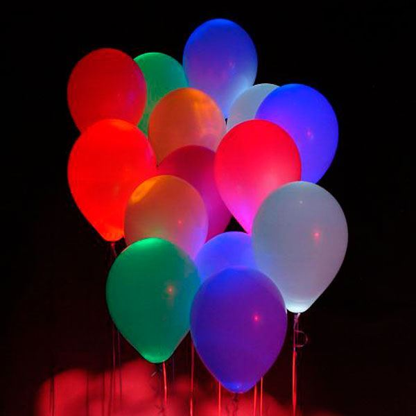 Picture of Globos colores surtidos y blanco con luz (5)