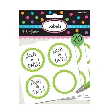 Picture of Etiquetas adhesivas verdes (20)