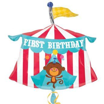 Imagen de Globo circo primer feliz cumpleaños