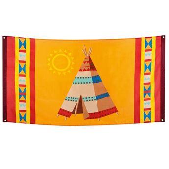 Imagens de Bandera indios y vaqueros 150x90cm
