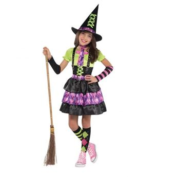 Imagens de Disfraz bruja alegre. Talla 8 a 10 años.
