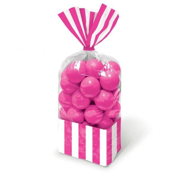 Imagen de Bolsas celofán rayas rosa (10)