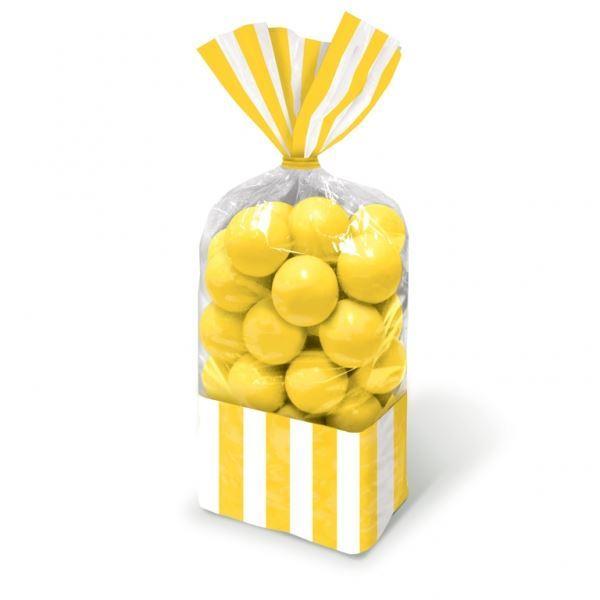 Imagen de Bolsas celofán rayas amarillas (10)