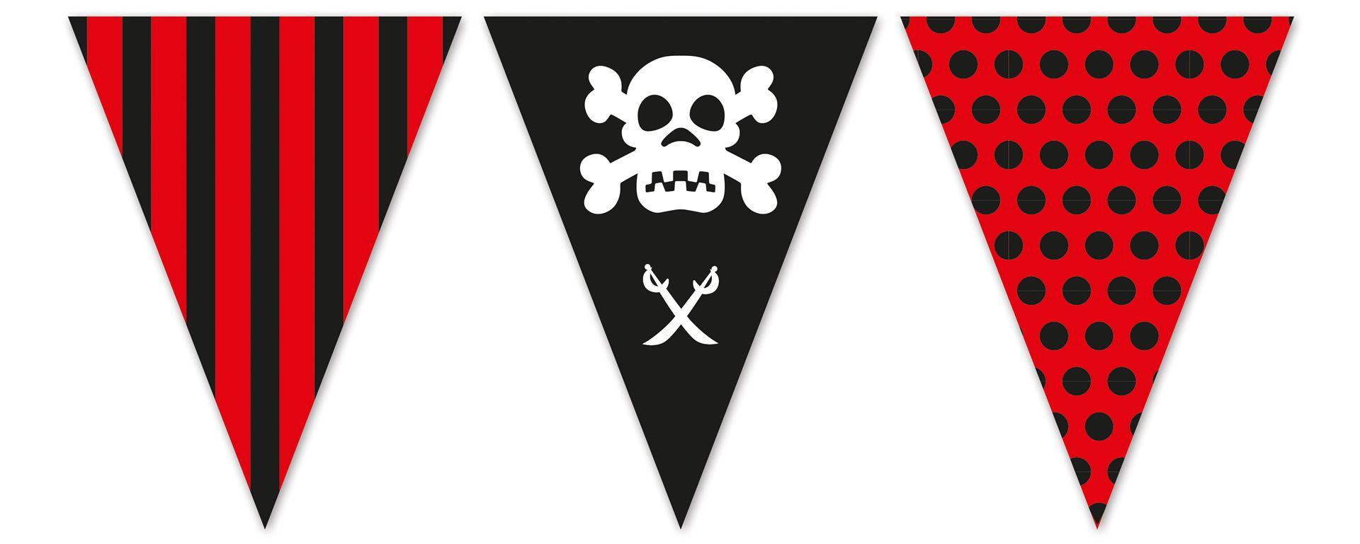 Banderín Pirata Envío En 24h Desde 399 Fiestafacilcom