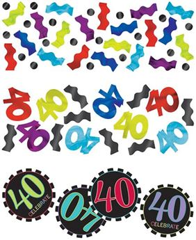 Imagens de Confeti 40 años chevron (34g)
