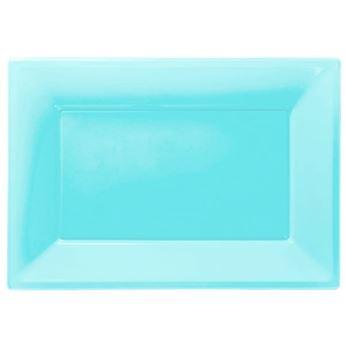 Imagen de Bandejas azul caribeño plástico (3)