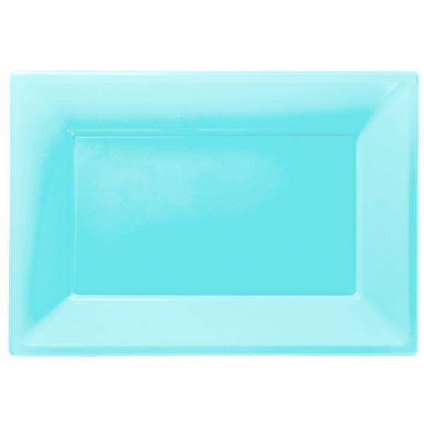Picture of Bandejas azul caribeño plástico (3)