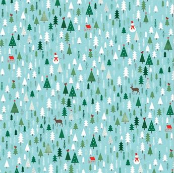 Imagen de Papel regalo bosque Navidad