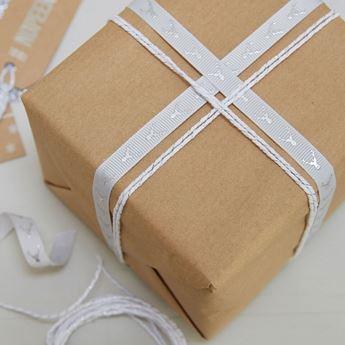 Imagen de Cintas tela regalos Navidad nórdica