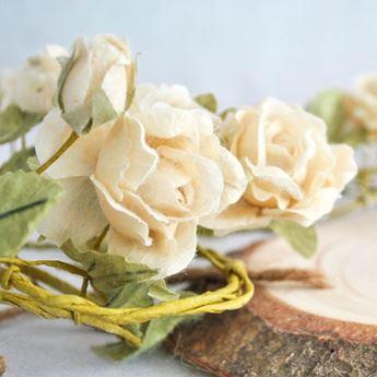 Imagen de Guirnalda flores blanca romántica 1,5mts