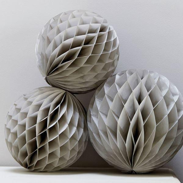 Picture of Decorados bola nido de abeja plata (3)