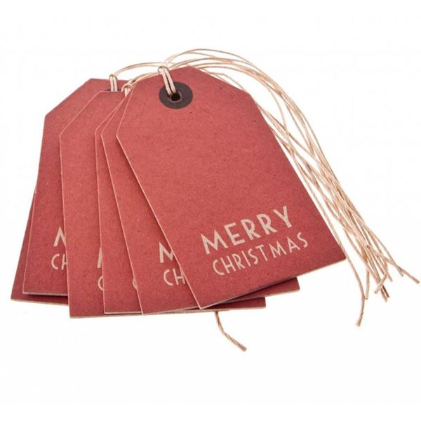 Imagen de Etiquetas Merry Christmas roja (6)