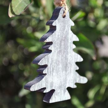 Imagens de Adorno árbol Navidad madera