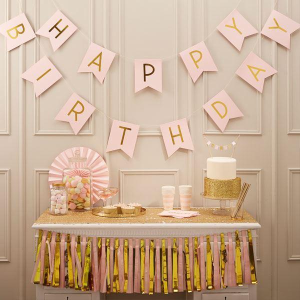 Imagens de Banderín Happy Birthday fiesta elegante