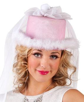 Picture of Sombrero boda novia rosa