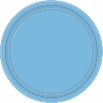Imagen de Platos de cartón azul claro pequeños (8)