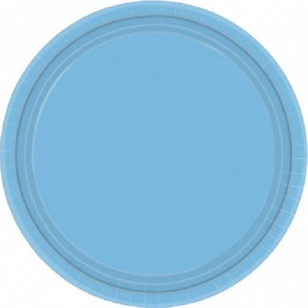 Imagens de Platos de cartón azul claro pequeños (8)