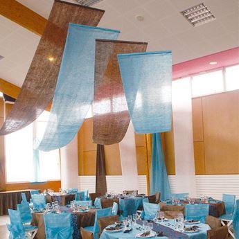 Picture of Decoración tela azul 12m