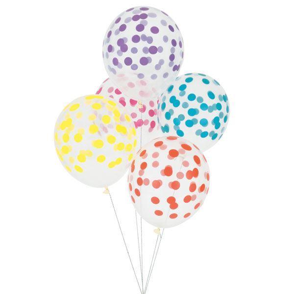 Imagen de Globos confeti colores (5)